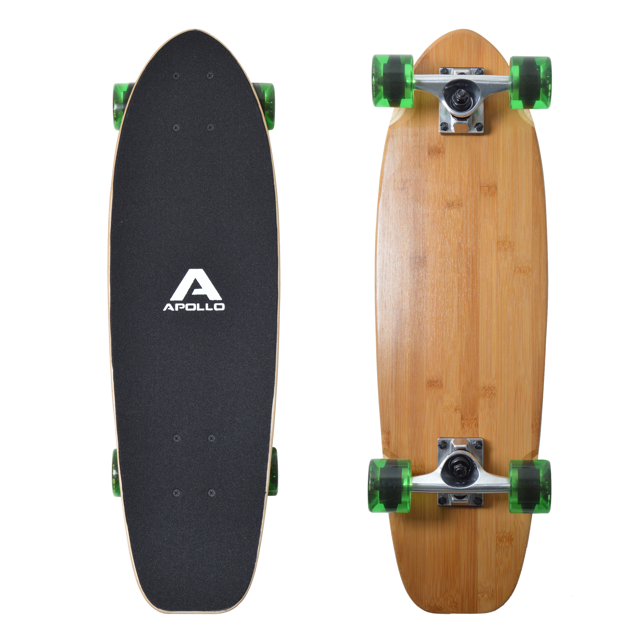 apollo mini holz longboard komplettboard skateboard midi vintage style ebay. Black Bedroom Furniture Sets. Home Design Ideas