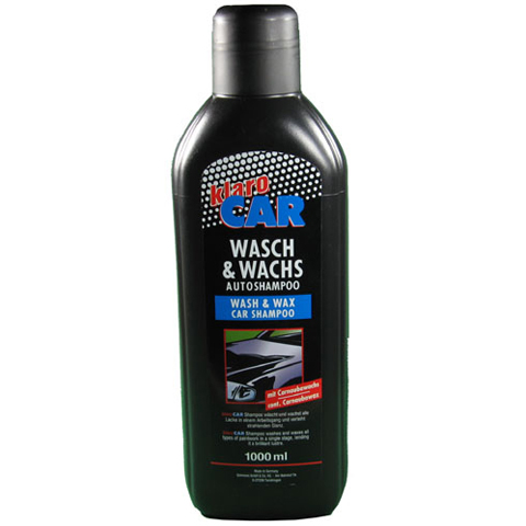 klaro car wasch wachs autoshampoo 1000ml mit. Black Bedroom Furniture Sets. Home Design Ideas