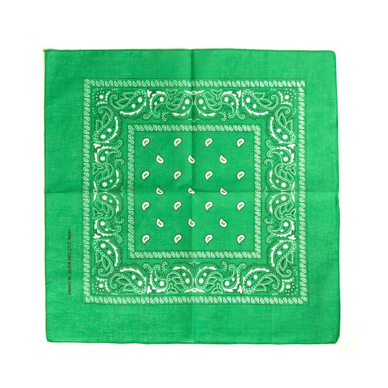 Bandana Halstuch Accessoire 100 % Baumwolle - Farbe: dunkelgrün