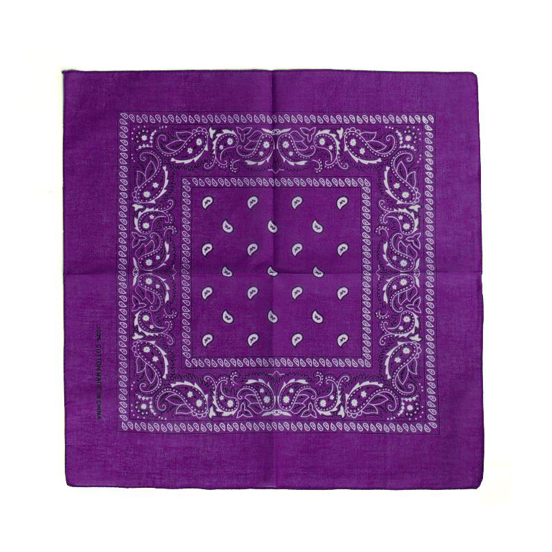 Bandana Halstuch Accessoire 100 % Baumwolle - Farbe: lila