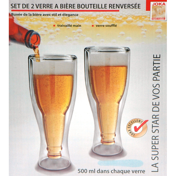 doppelpack gro e weizenflasche im glas 500 ml gag bierflasche ebay. Black Bedroom Furniture Sets. Home Design Ideas
