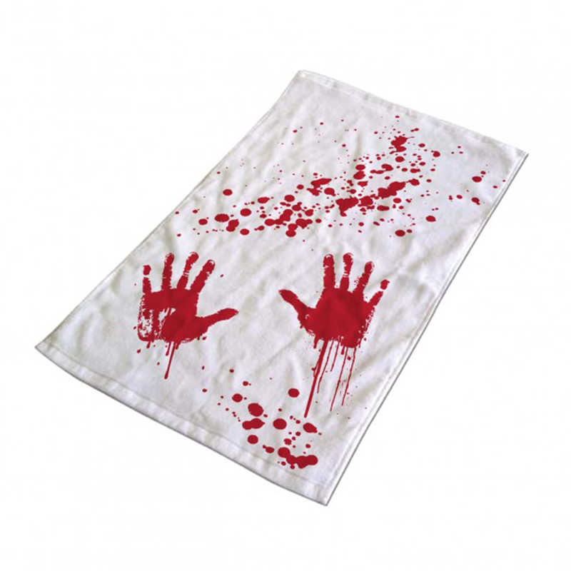 Handtuch Blutbad blutige Handabdrücke Blood Bath Hand Towel