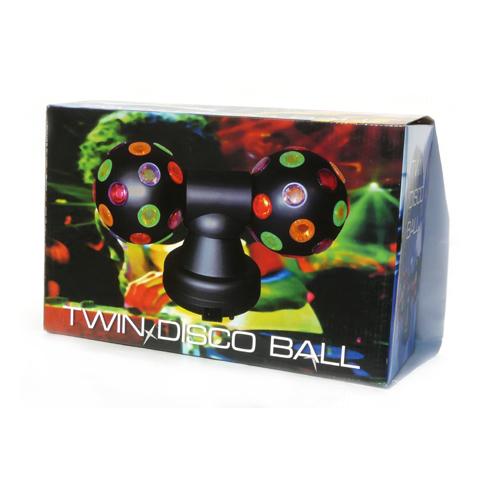 Twin Disco Kugel mit vielen bunten LEDs für Parties