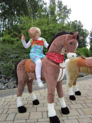 kinderpferd xxl riesen giant choco braun kinder reitpferd pferd 125cm gro ebay. Black Bedroom Furniture Sets. Home Design Ideas
