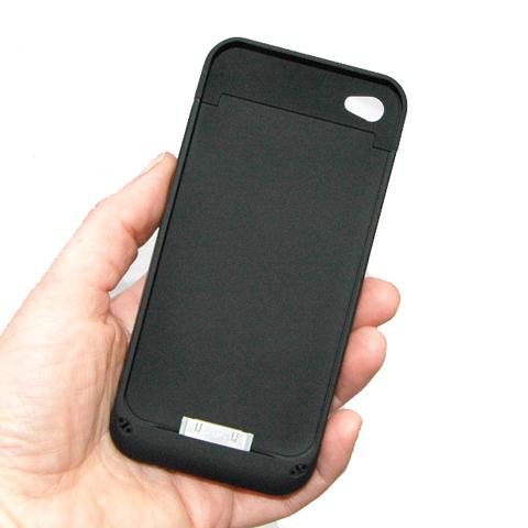 iPhone-Zusatzakku-als-Hartschale-fuer-4G-4GS-SCHWARZ-extern-Battery-Case
