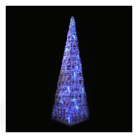 led pyramide 120cm mit 80 blauen leds ebay