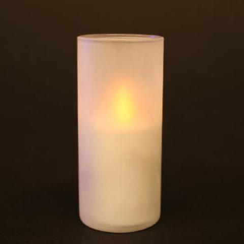 LED Teelicht im Glas - romantische Atmosphäre - 10 cm hoch