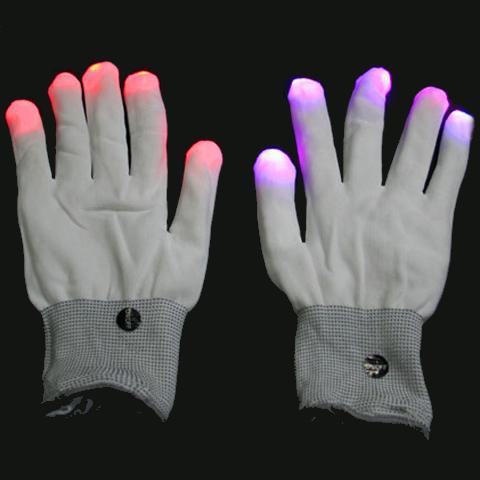 Magic LED Glove - leuchtende Handschuhe - mit Farbwechsel - Partyhit