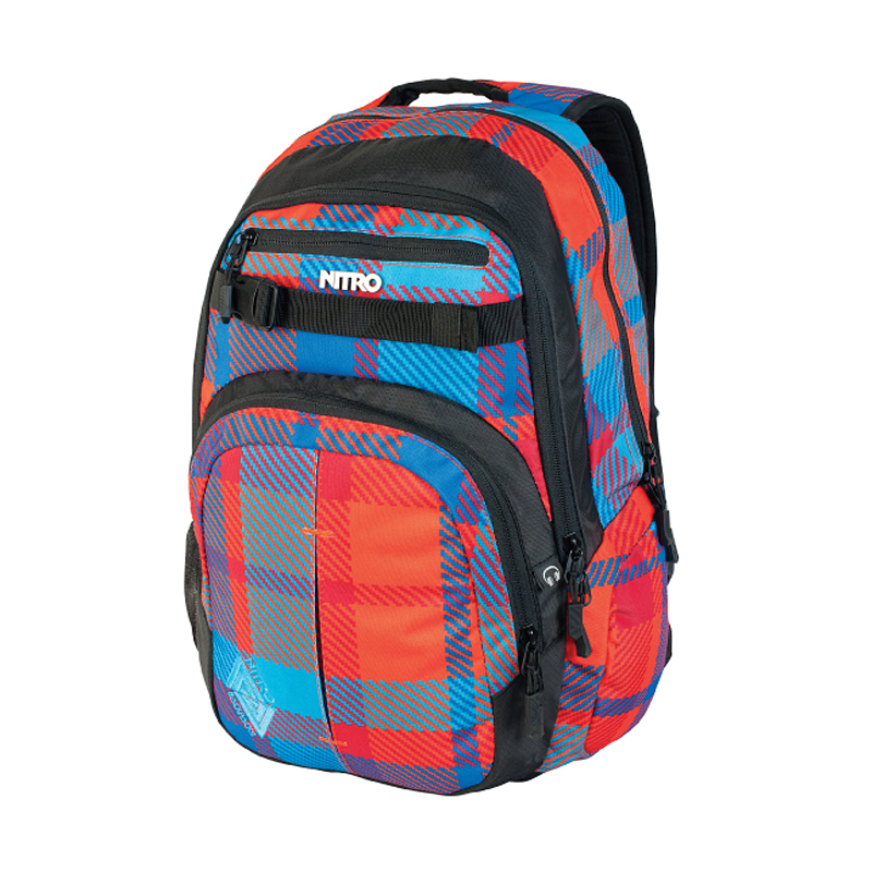 Nitro Chase Pack Rucksack Tasche Backpack 35 L Farbe: Plaid Red-Blue