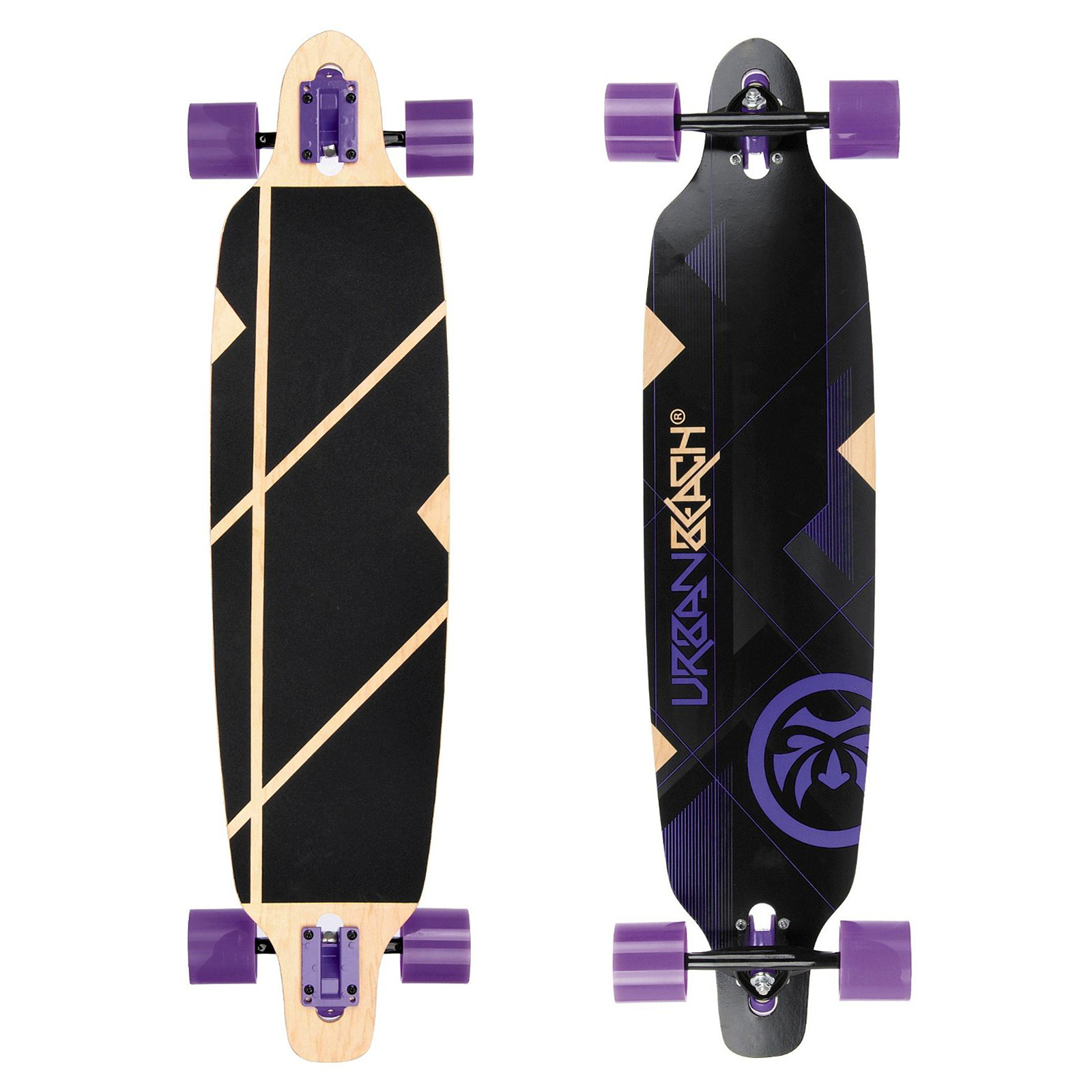 "Urban Beach Longboard Nexus Purple Twin Tip Komplettboard 39"" inch"
