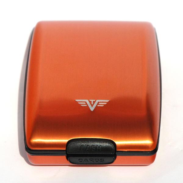 """Tru Virtu Oyster \""""Orange Blossom\"""" - oranges Portemonnaie aus Aluminium"""
