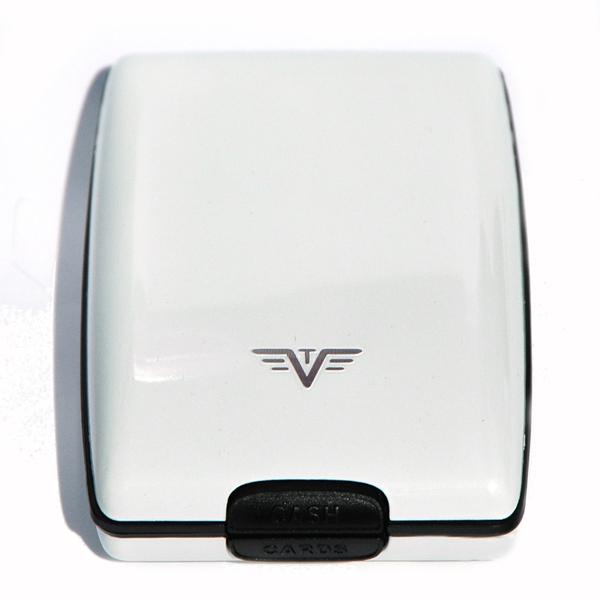 """Tru Virtu Oyster \""""White Pearl\"""" - weißes Portemonnaie aus Aluminium"""