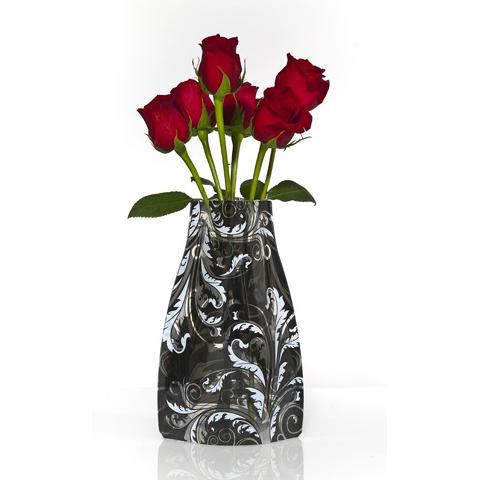 """reva™  Vase \""""Black n White\"""" - faltbar, praktisch, schick und recycelbar"""
