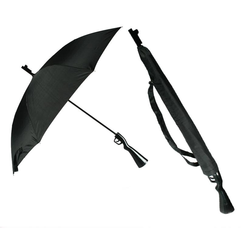 """Regenschirm \""""Gewehr\"""" cooler Regenschutz mit Hülle und Tragegurt"""