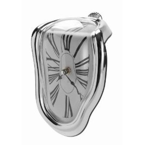 Melting Clock schmelzende Uhr Standuhr wie von Dali für Regal Ecke