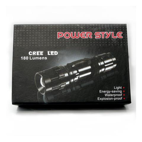 cree power style 180 lumen extrem helle led taschenlampe mit akku ebay. Black Bedroom Furniture Sets. Home Design Ideas