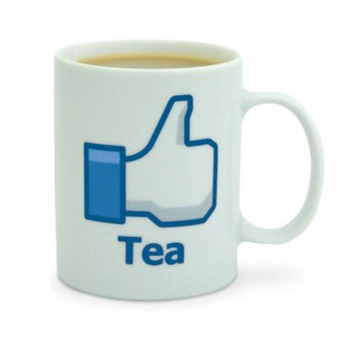 """Like Mug \""""Tea\"""" - Gefällt mir Tasse \""""Tee\"""" - großer Teebecher, Teetasse mit Henkel"""