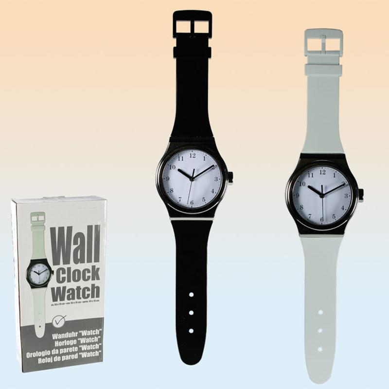 wanduhr watch uhr xxl armbanduhr f r die wand schwarz ca 93 x 19 cm ebay. Black Bedroom Furniture Sets. Home Design Ideas