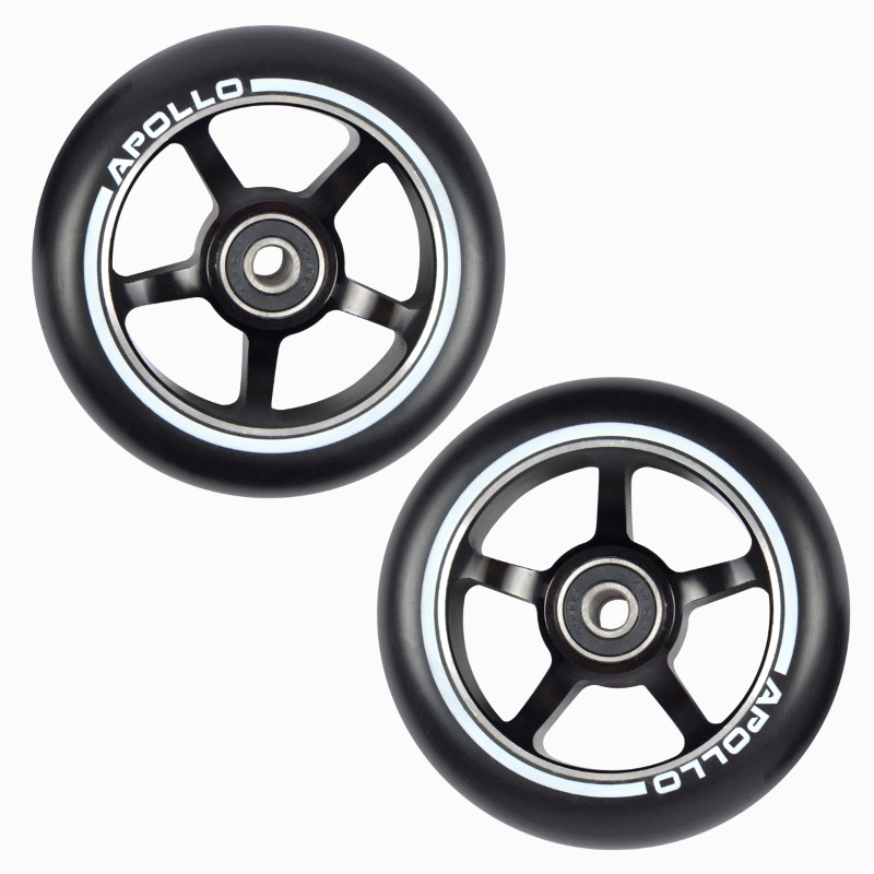 Scooter Wheel Set Black, ALU Core - 100mm