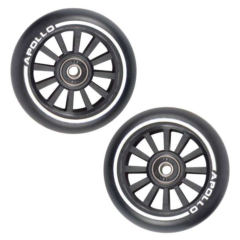 Apollo Scooter Wheel Set Black (2 STÜCK), PP Core - 100mm