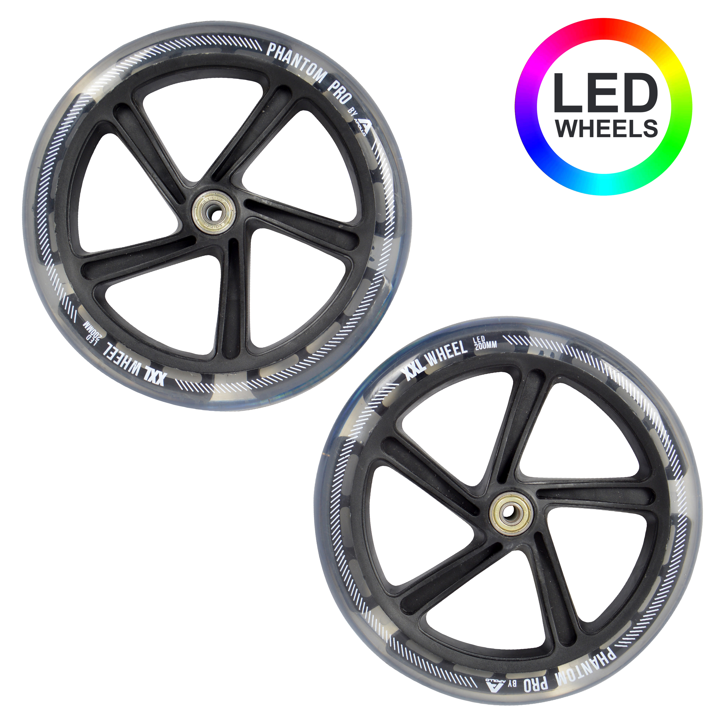Apollo City Scooter LED Wheel 2er SET