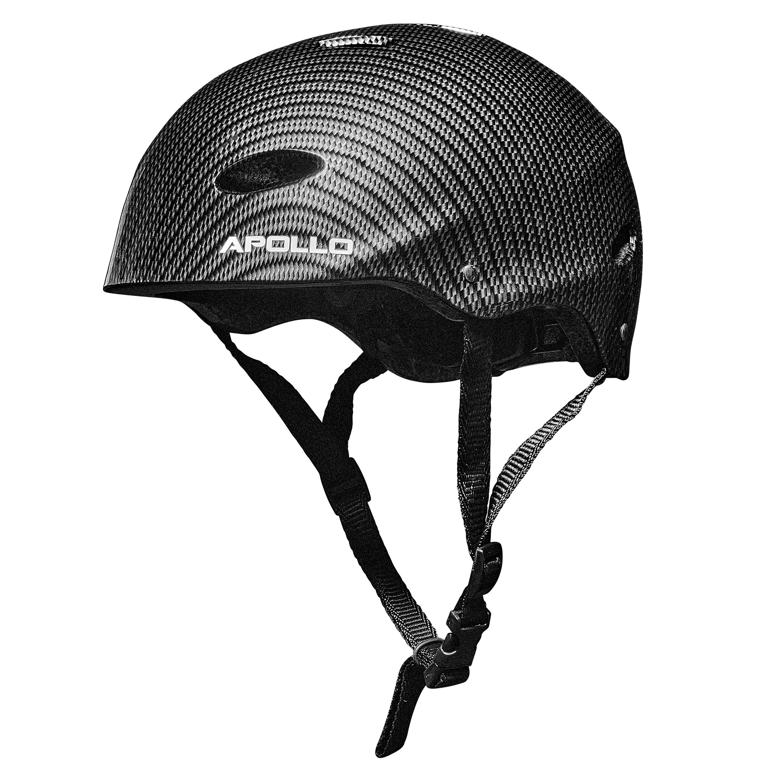 """Apollo Skate-Helm-""""Bright Carbon"""" Größe S/M verstellbar (48-55 cm)"""