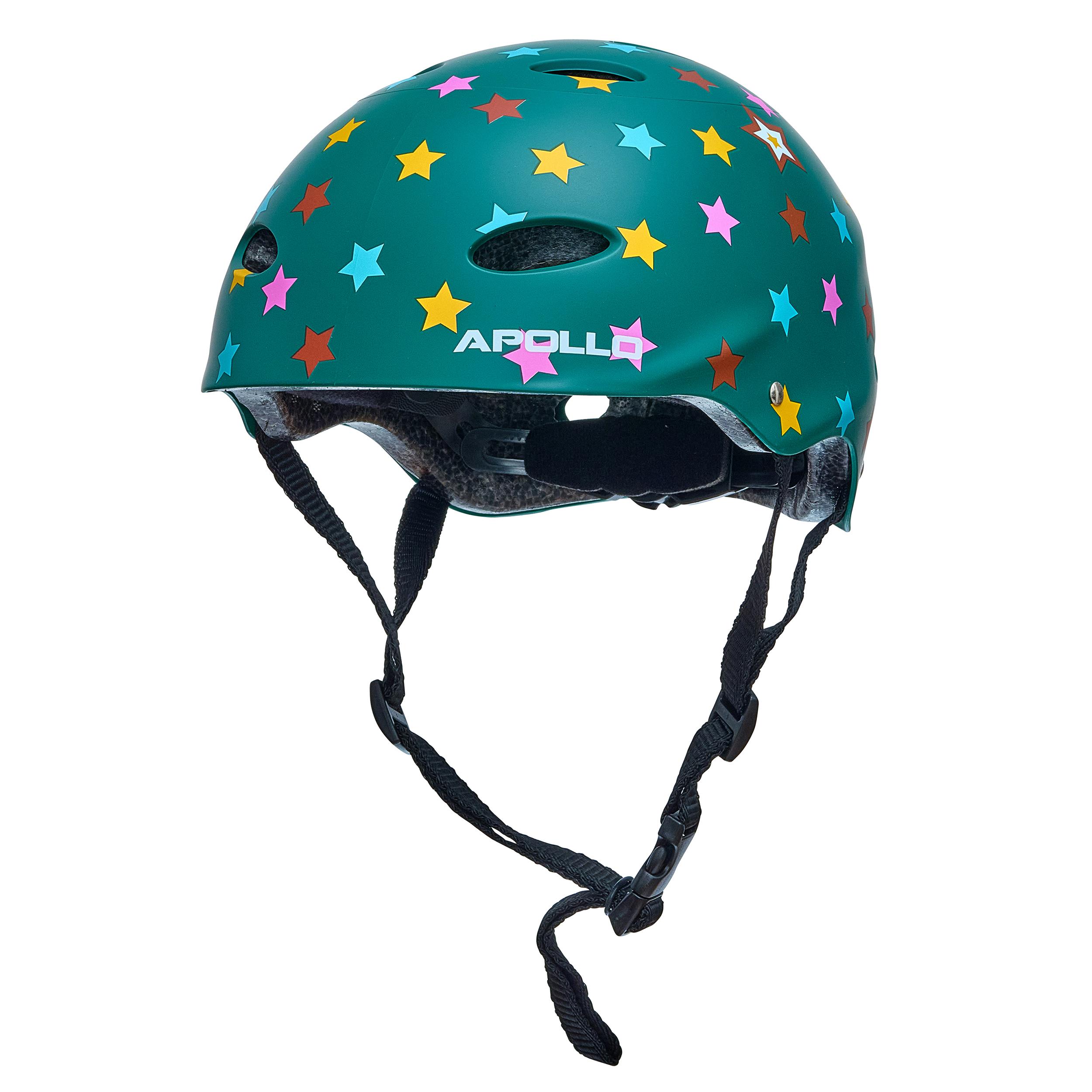 """Apollo Skate-Helm - """"Stars"""" Größe S/M verstellbar (48-55 cm)"""
