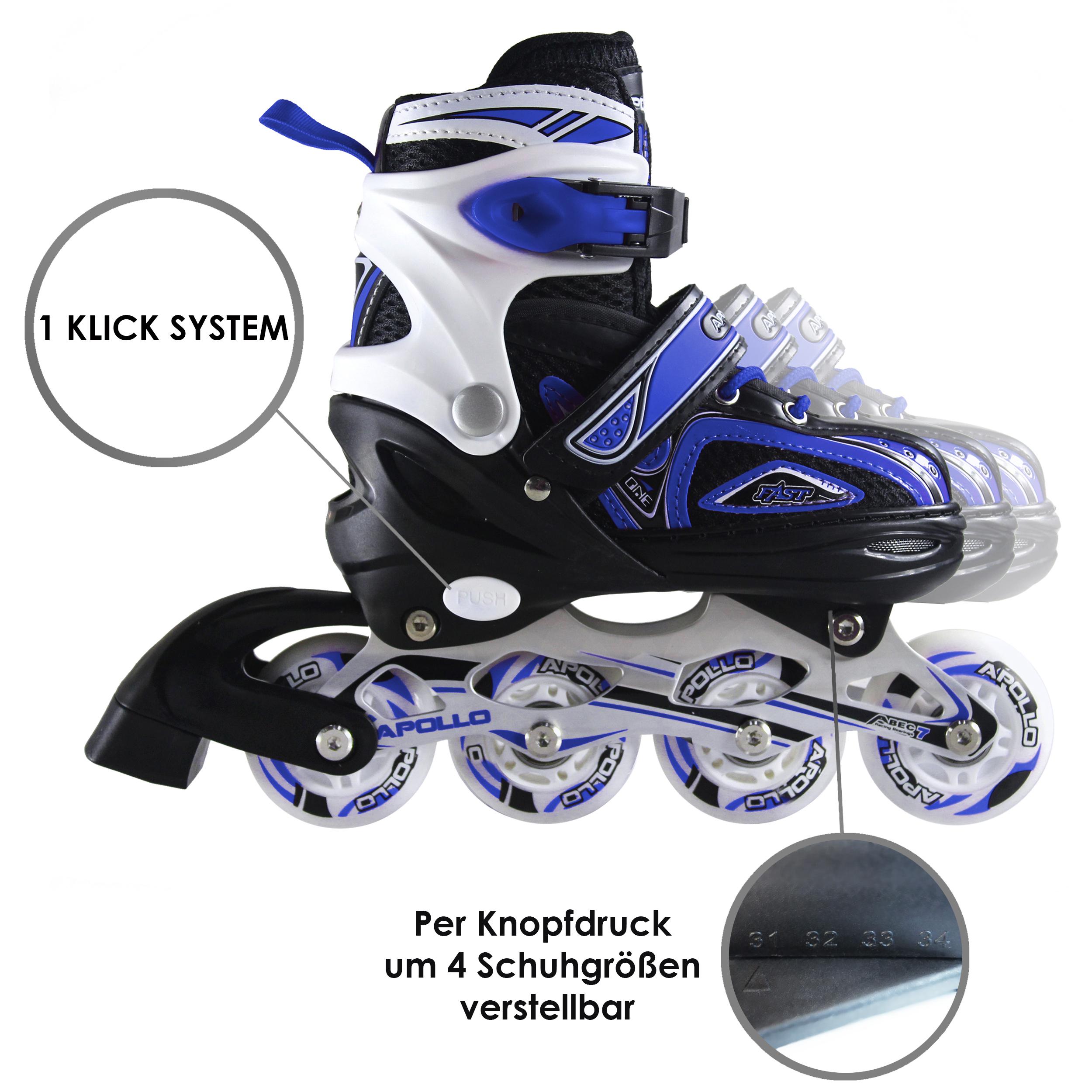 Super Blades X Pro, gr S, LED Inline Skates, Blau