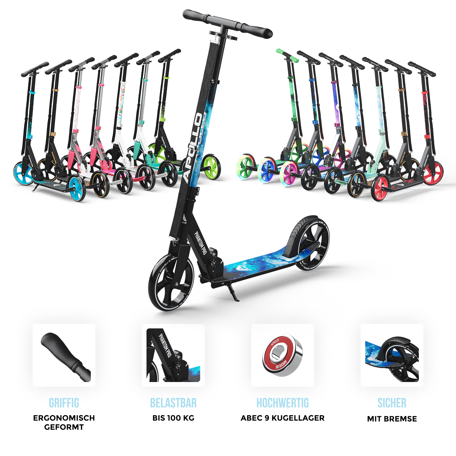 City Scooter Phantom Pro - Stars