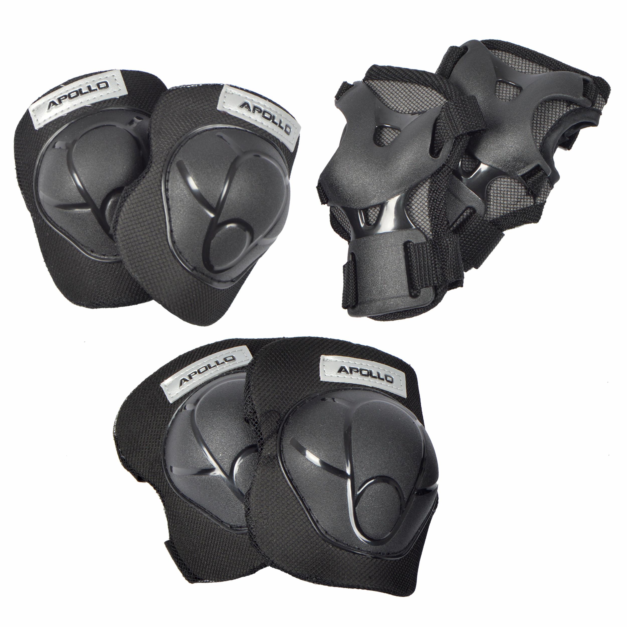 Apollo Knie- Ellenbogen und Handgelenkschoner Set Größe L - Schwarz
