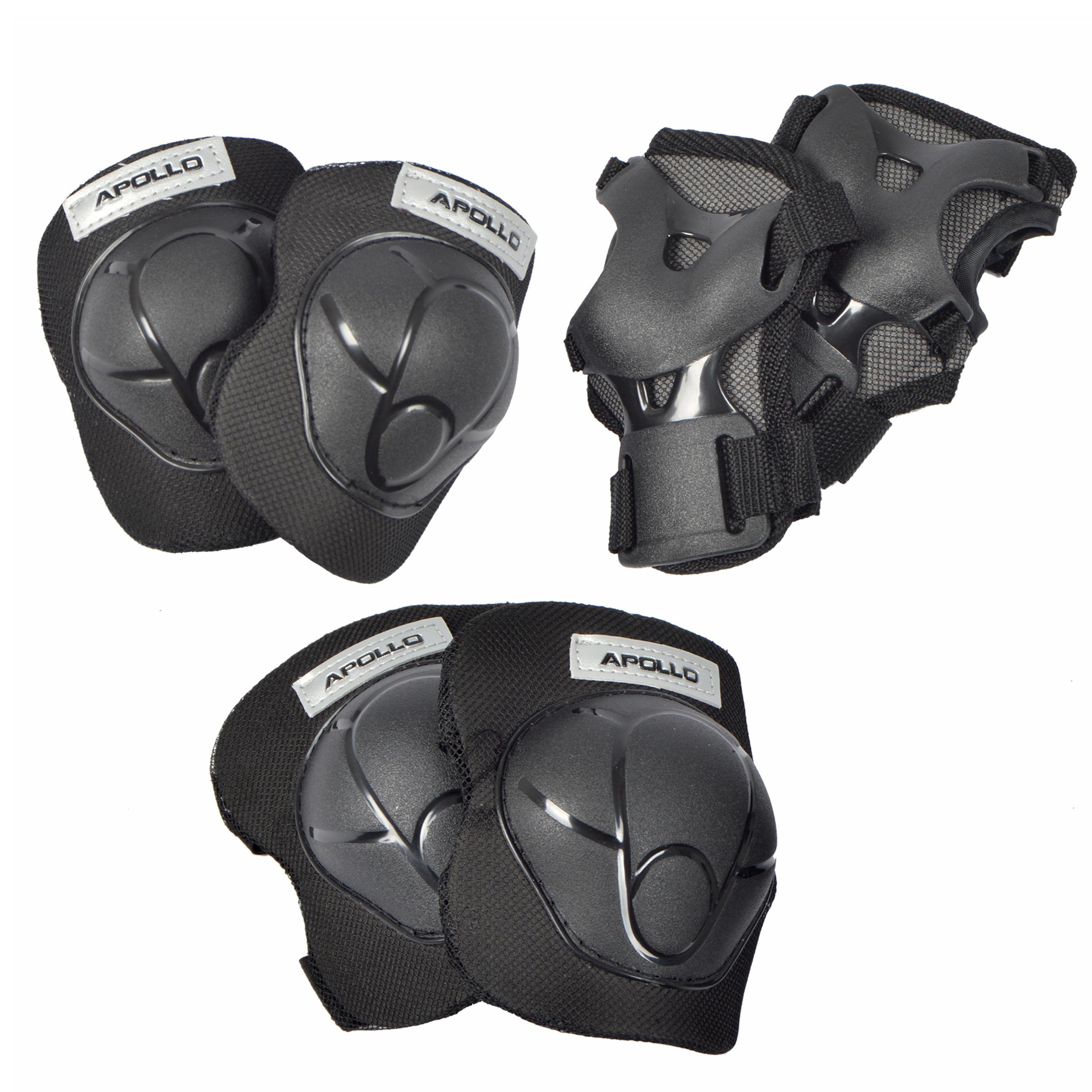 Apollo Knie- Ellenbogen und Handgelenkschoner Set Größe M - Schwarz