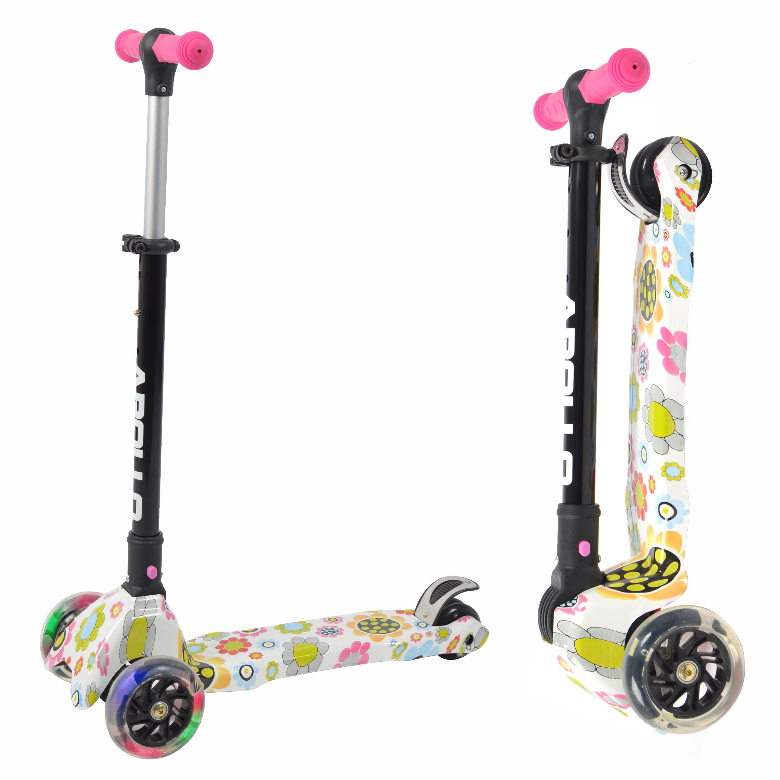 Kinderroller Candy Racer LED - Flower