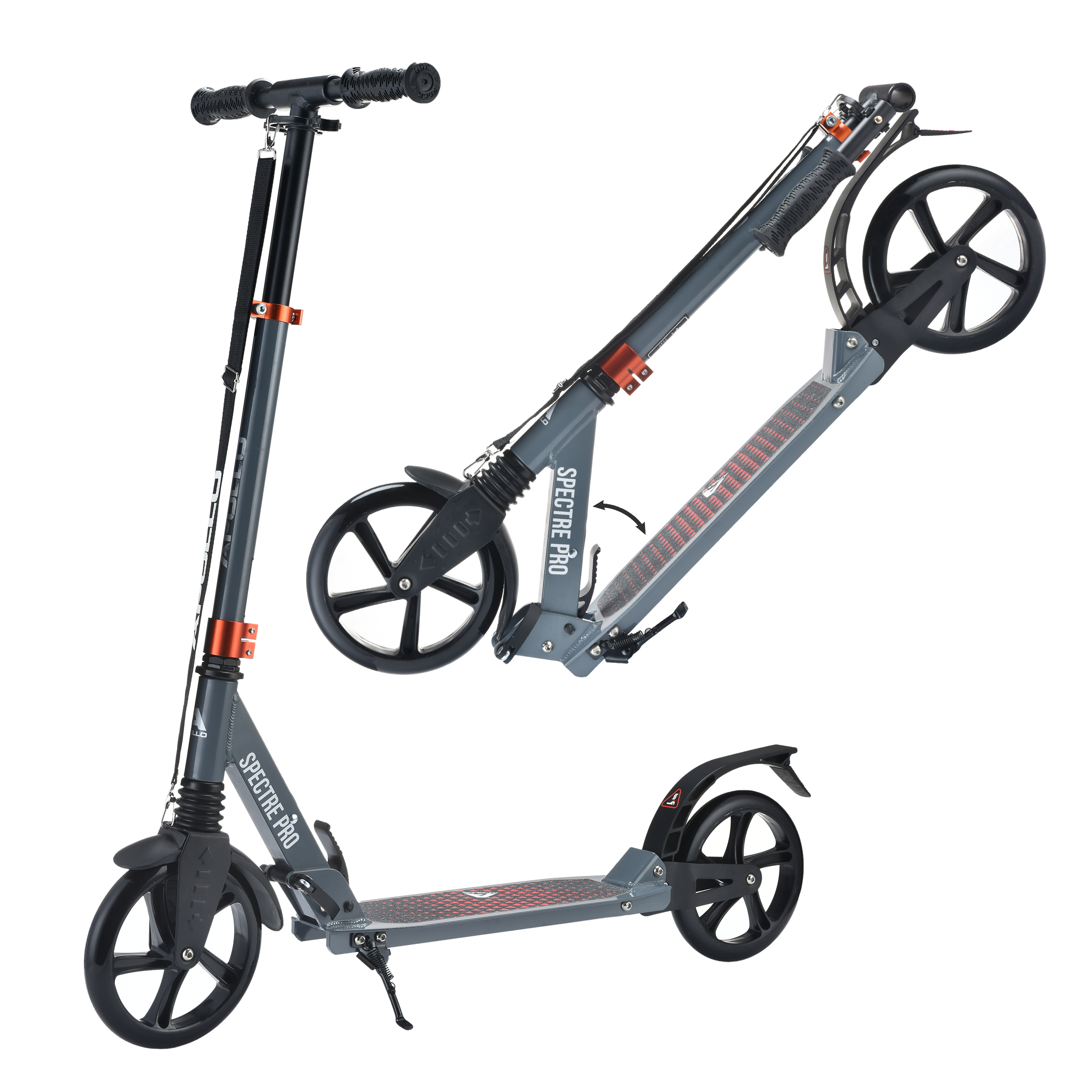 City Scooter - Spectre Pro - Grey/Red