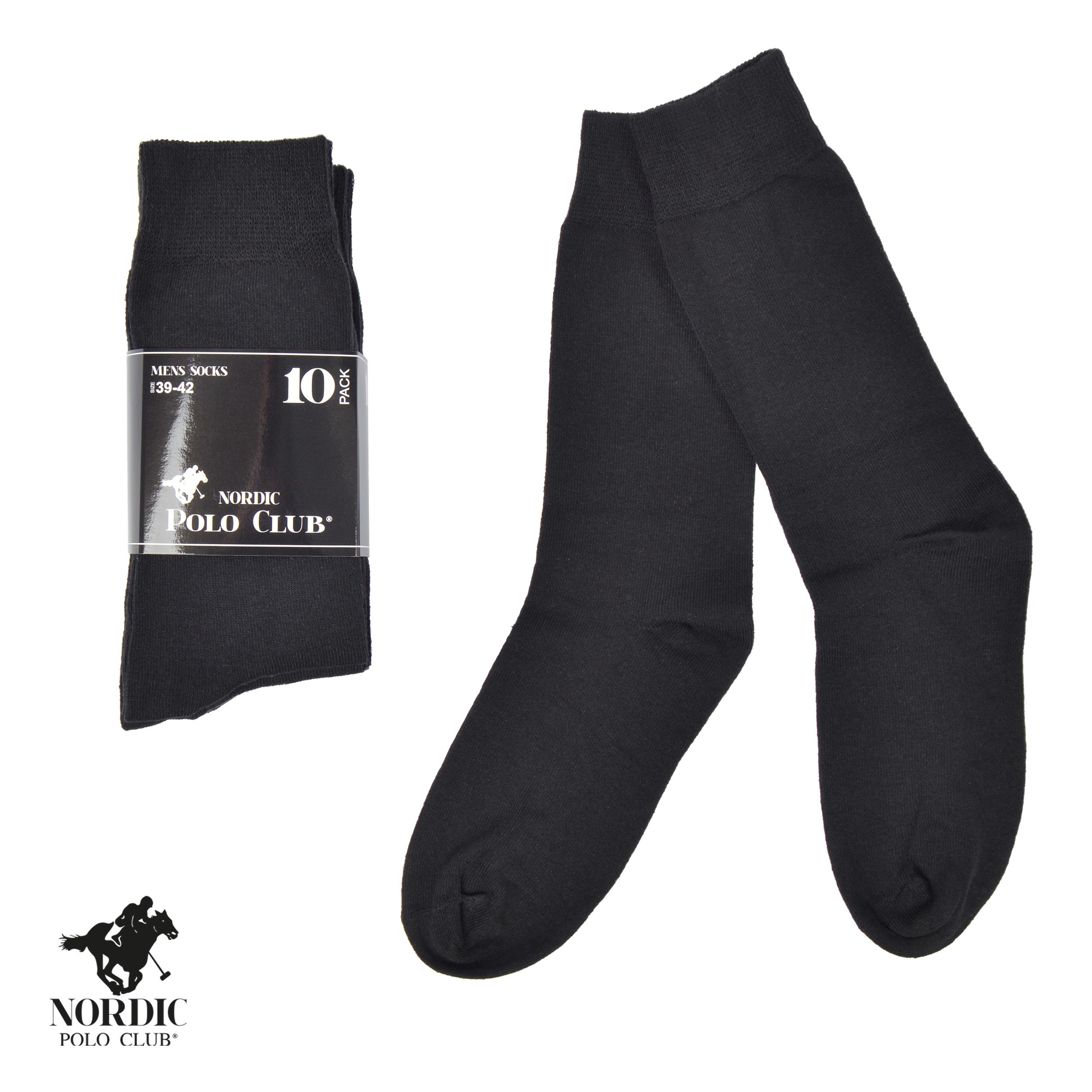 10er Pack Socken, schwarz - 39-42