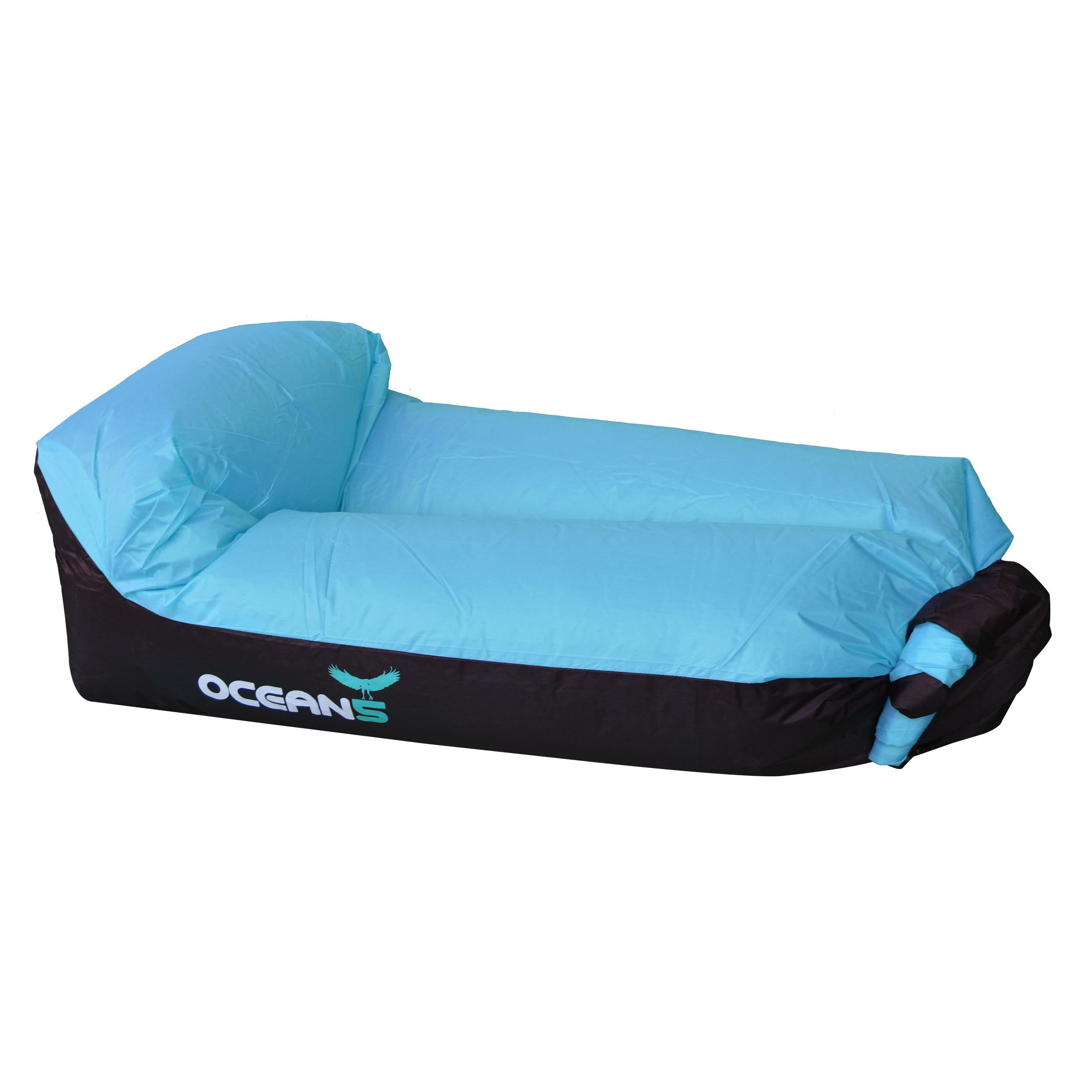 Ocean5 Luftsofa / Air Lounger - Blau/Schwarz