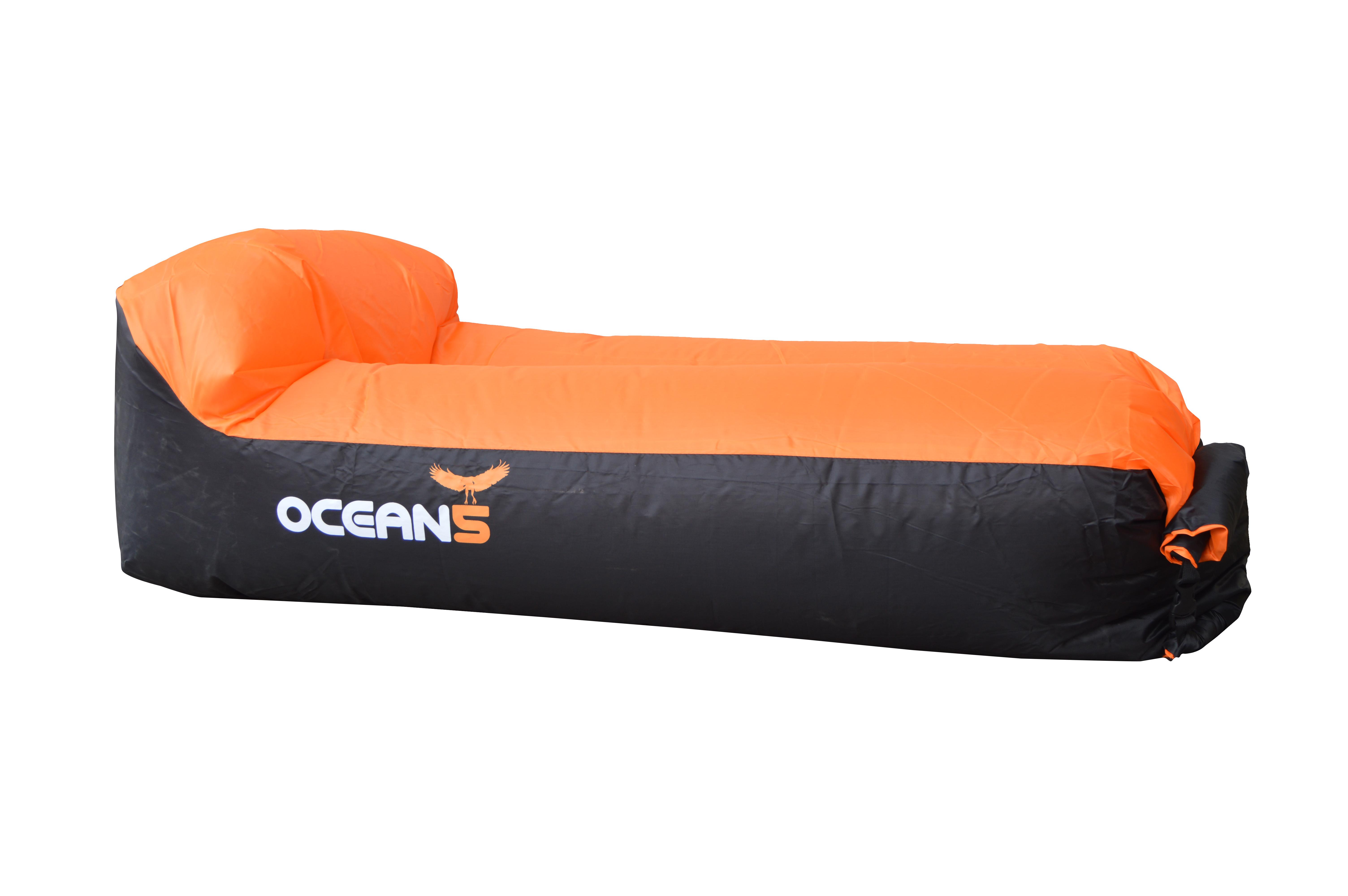 Ocean5 Luftsofa / Air Lounger - Orange/Schwarz