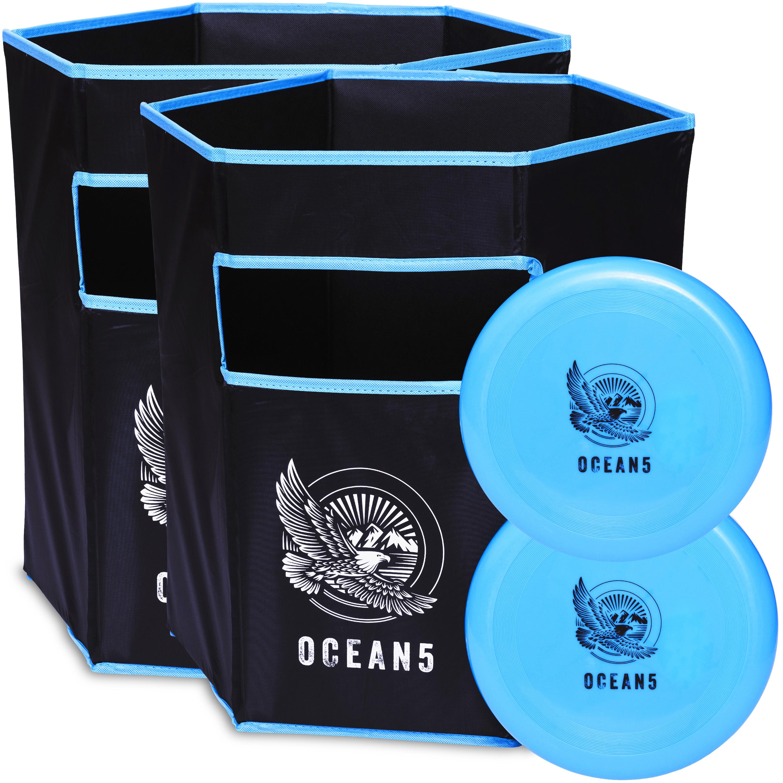 Ocean 5 Wurfspiel Disc Jam Set - Outdoorspiel Wurfscheibe-Blau