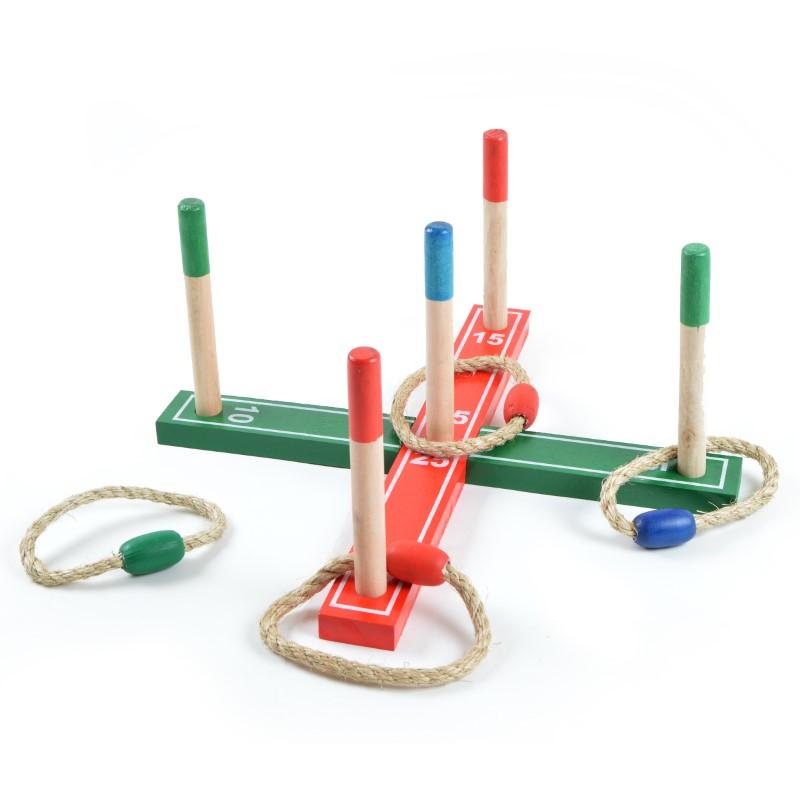 Ringwurfspiel - Spielzeug-Klassiker, Wurfspiel für drinnen und draußen