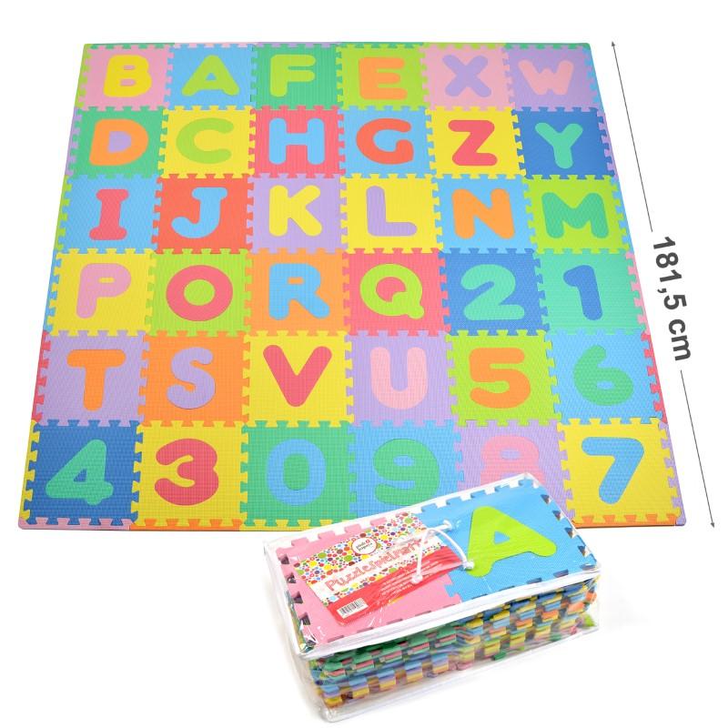 "Pink Papaya EVA Puzzlematte ""Kids Zone"" = 36 Felder (A-Z & 0-9 + Rand)"