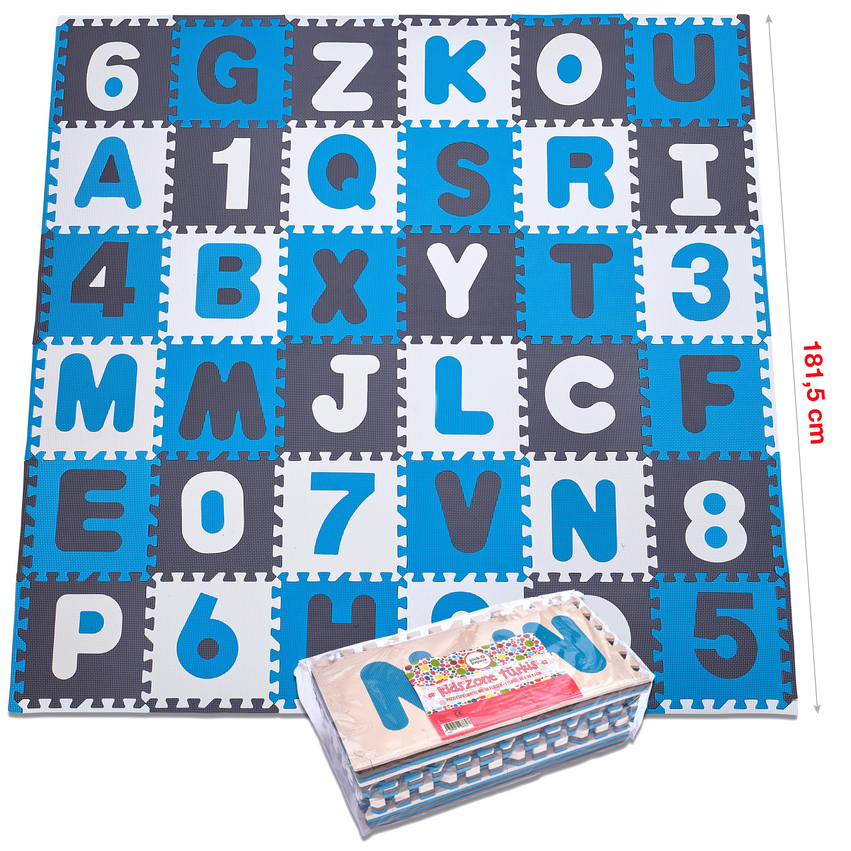 Pink Papaya Puzzlematte Kidszone -Türkis - 86 Teile + Rand