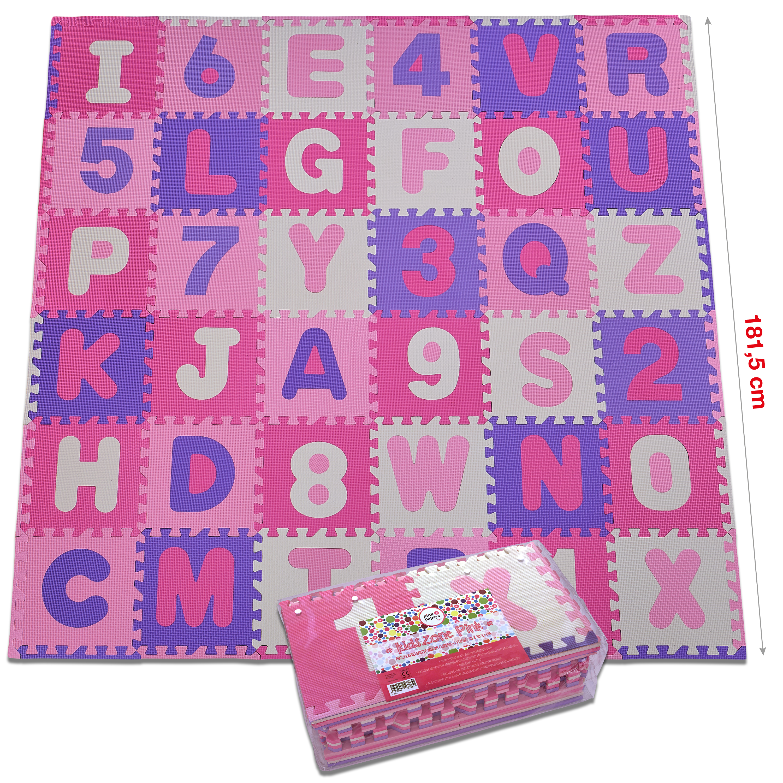 "Pink Papaya Puzzlematte ""Kidszone"" - Pink - 86 Teile + Rand"
