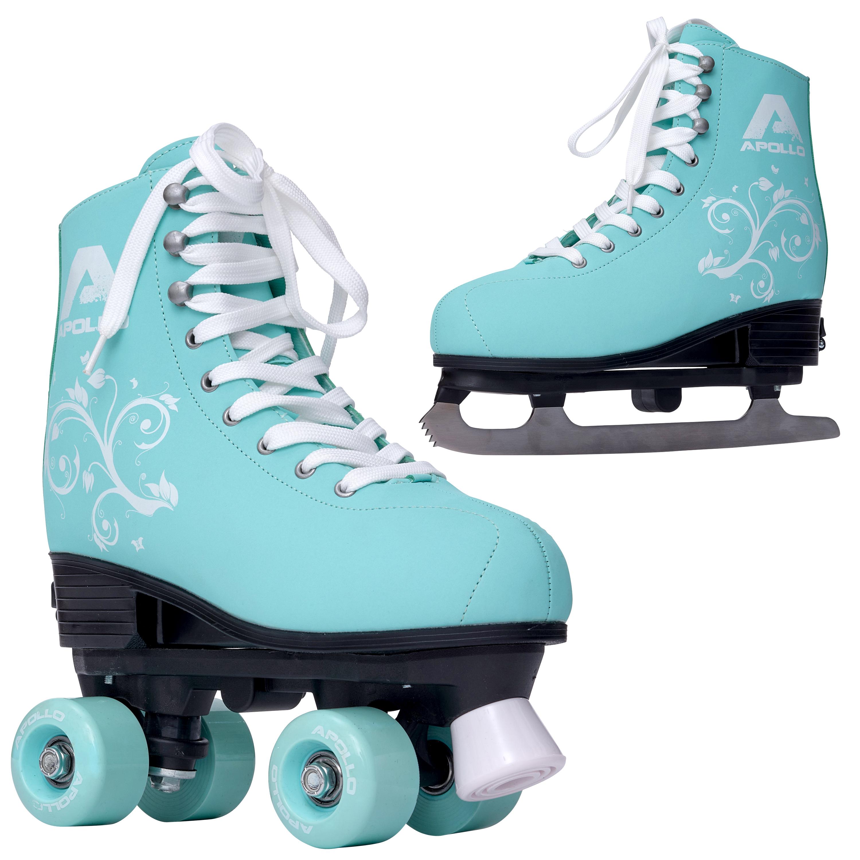 Apollo Super Skate 2in1 Rollschuh & Schlittschuh - Mint - Größe L (39-42)