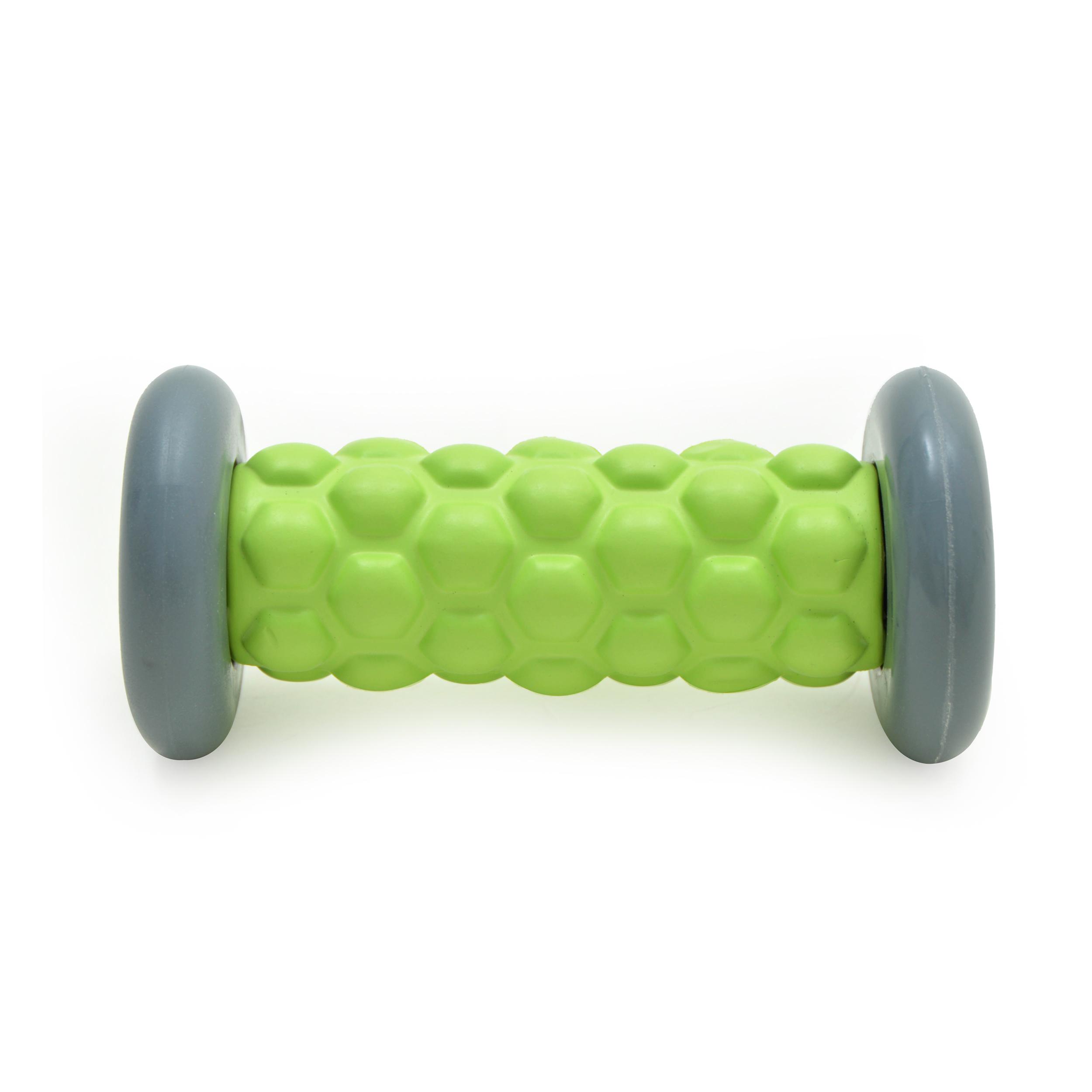 Zen Power Massage Fuß-Roller, kleine Faszien-Rolle 16x7,5 cm,grün/grau