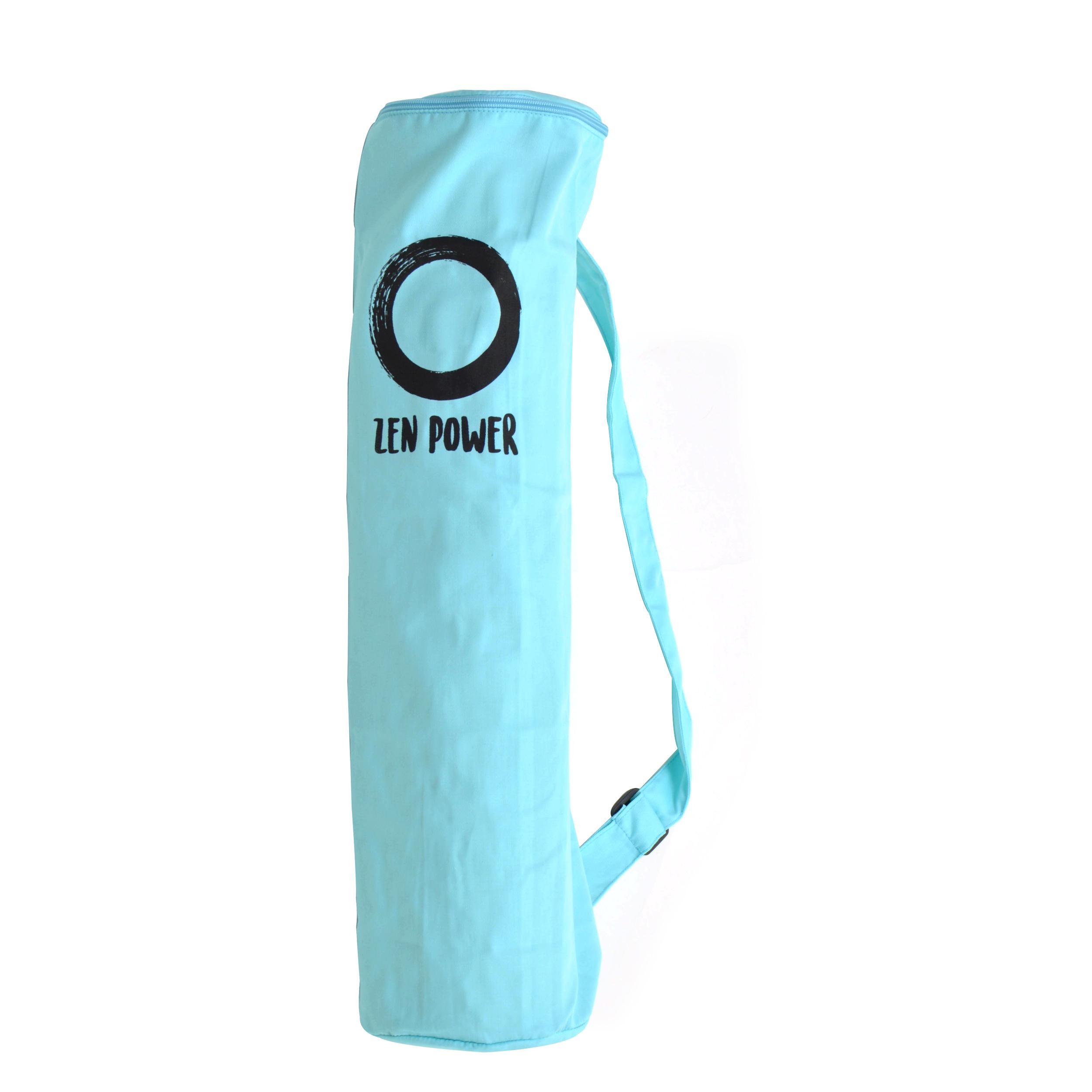 Zen Power Yoga-Tasche aus Baumwolle, Yoga-Beutel, 63x25cm, Farbe: mint