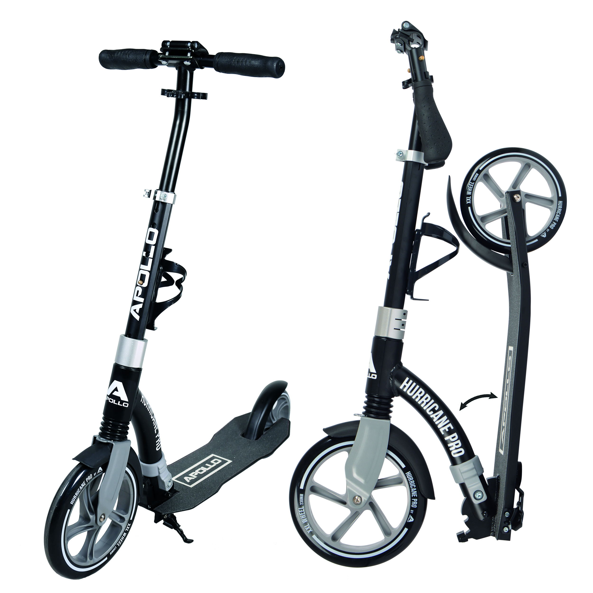 City Scooter - Hurricane - Schwarz/Silber