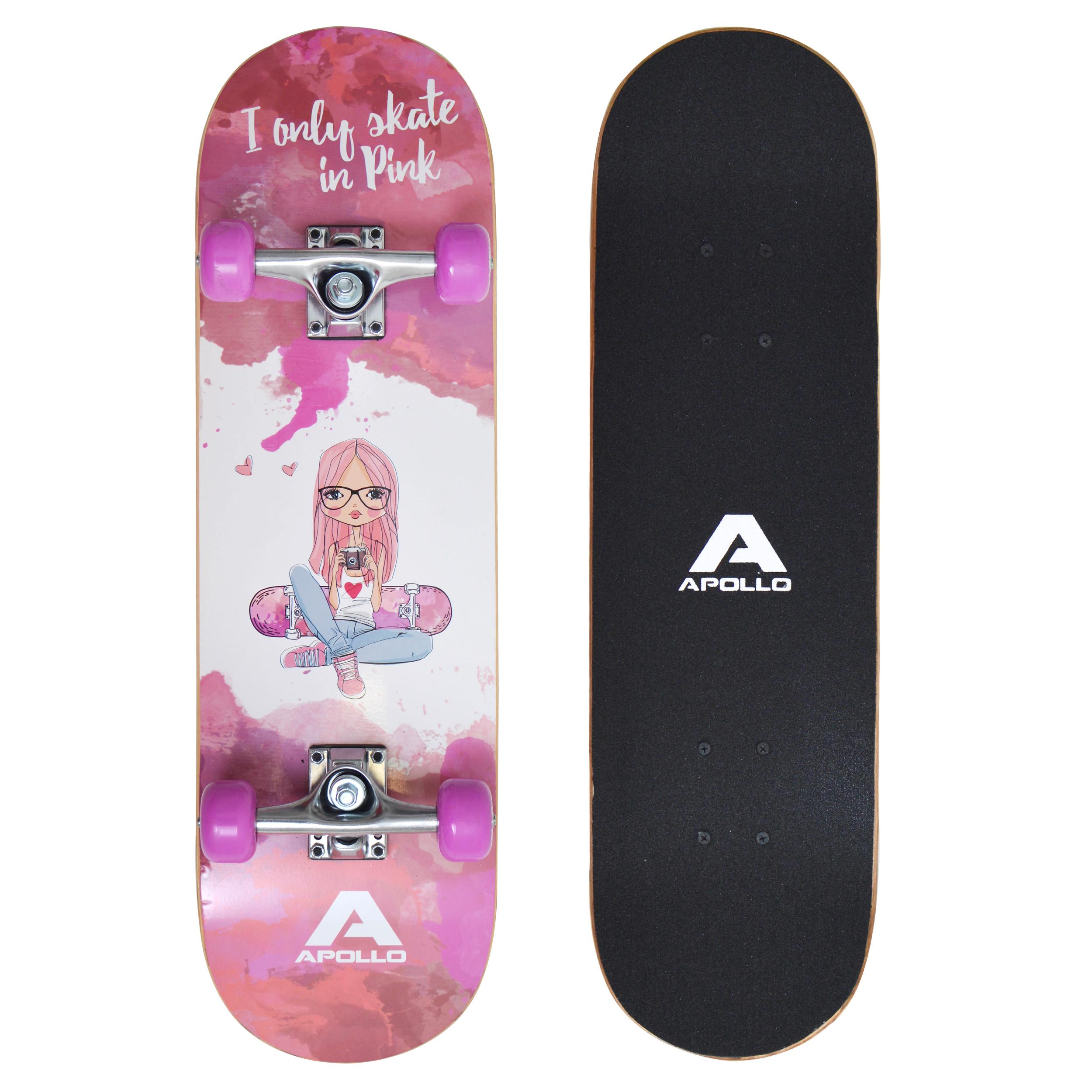 Apollo Skateboard - Skaterprincess - Kinderskateboard 71cm