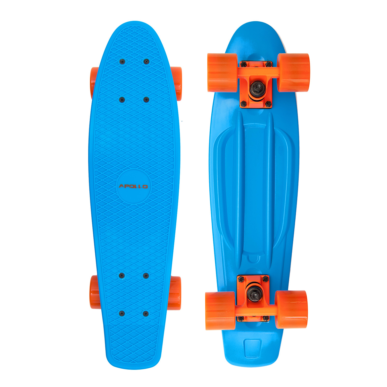 Apollo Fancy Board vintage Cruiser 22,5'' (57,15cm) Farbe: blue/orange