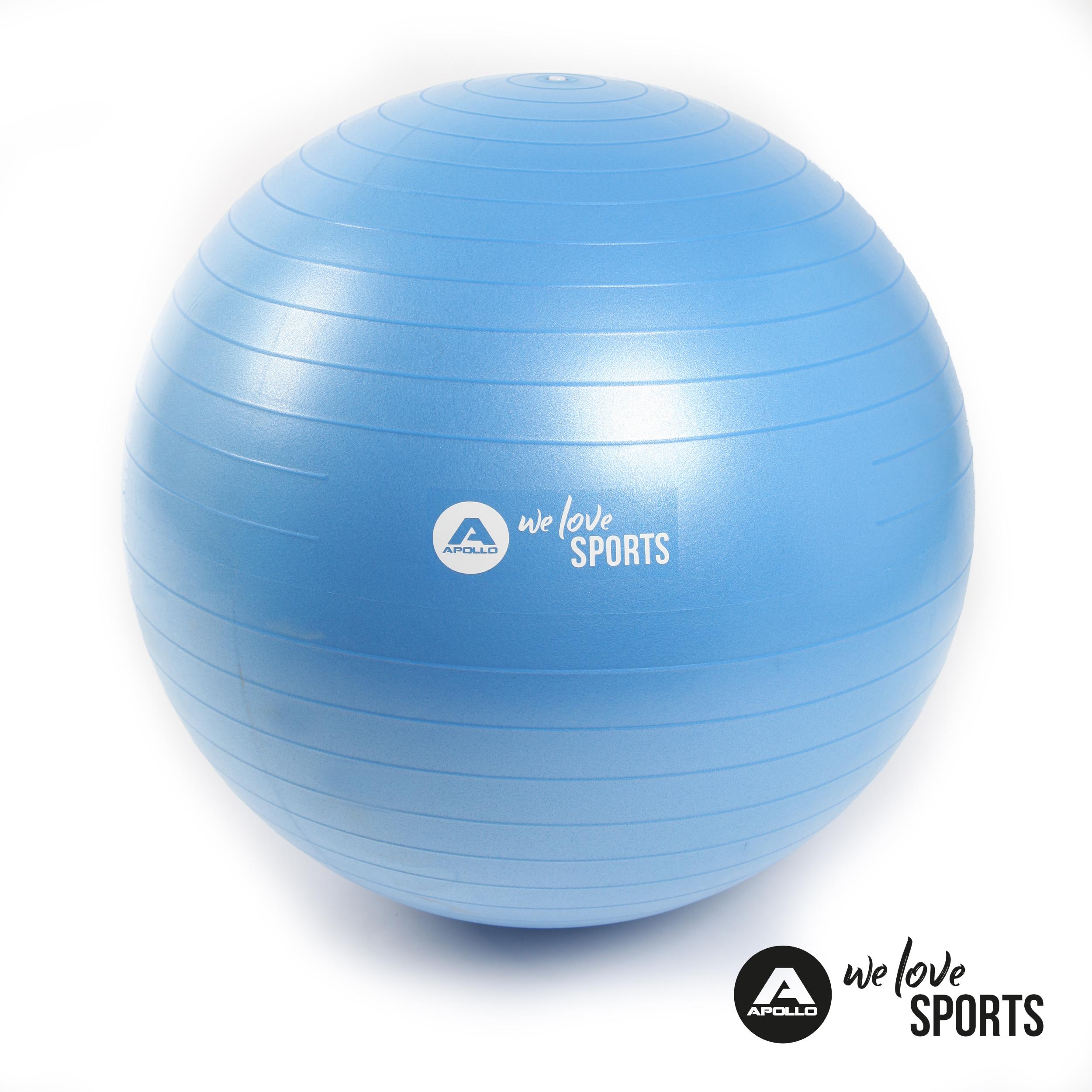 Apollo Anti Burst Gymnastikball Fitnessball - Blue - ø 65 cm