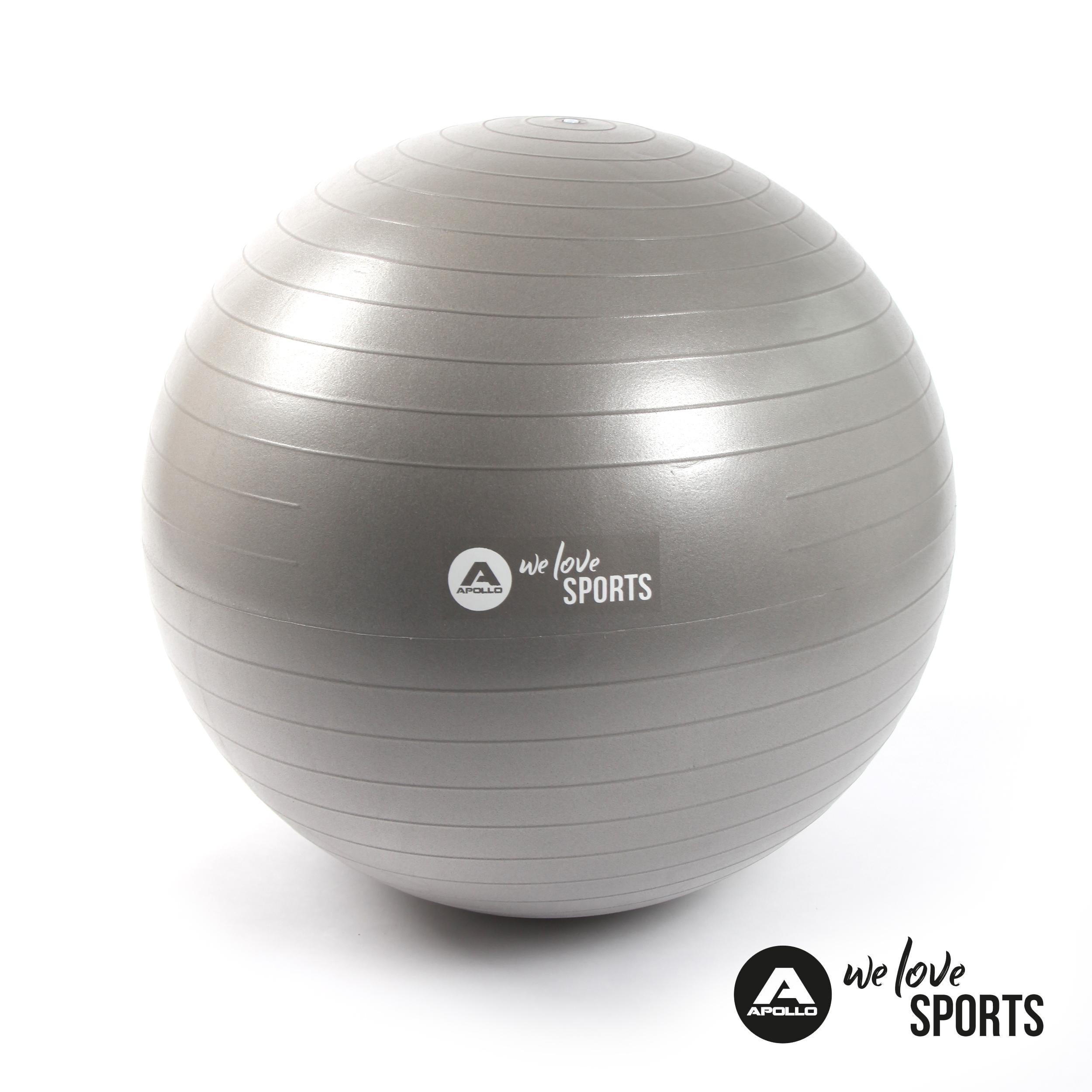 Apollo Anti Burst Gymnastikball Fitnessball - Cool Gray - ø 65 cm