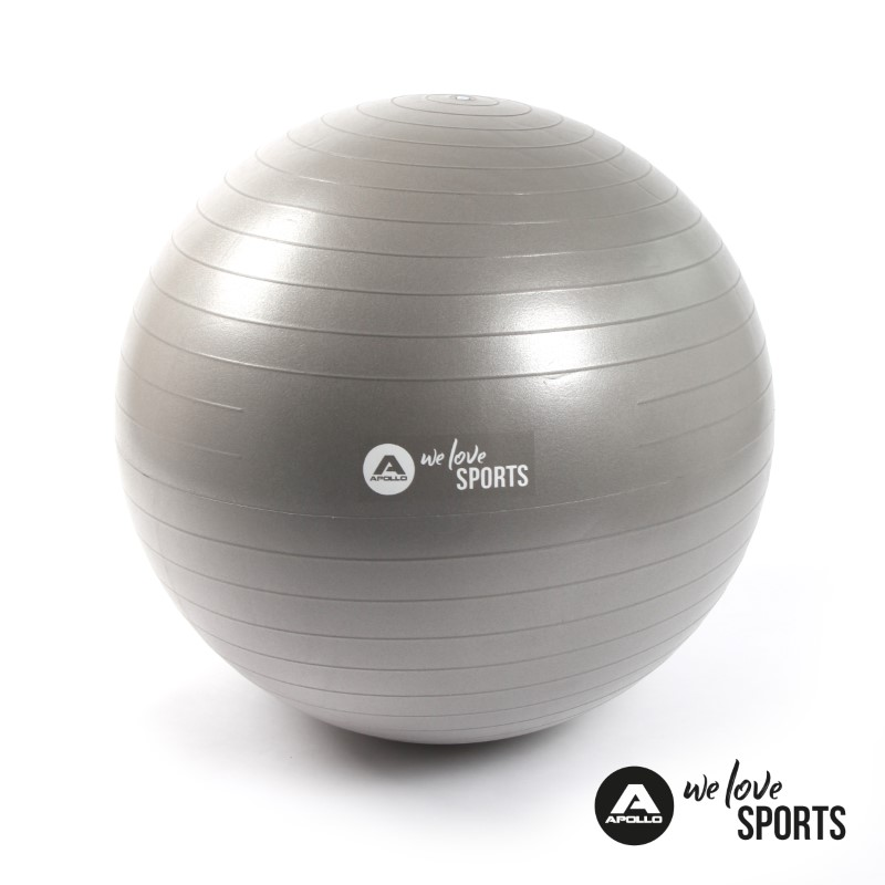 Apollo Anti Burst Gymnastikball Fitnessball - Cool Gray - ø 65 cm